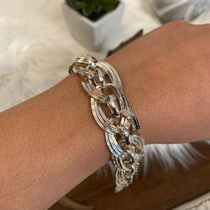 Silver Oversized Link Bracelet
